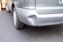 Dent on bumber repaired.
